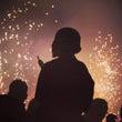終戦記念の日、花火の…