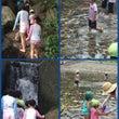 じゃぶじゃぶ池で水遊…