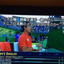 錦織圭選手 銅メダル…