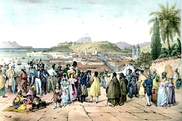 19世紀前半のリオデジャネイロ
