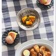 鶏とゆで卵の焼肉のタ…