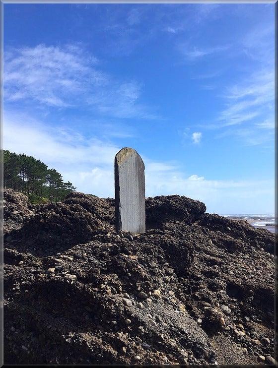 大洗磯前神社 神磯の鳥居 海 石碑 パワースポット
