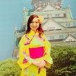 大阪城で小袖体験と水…