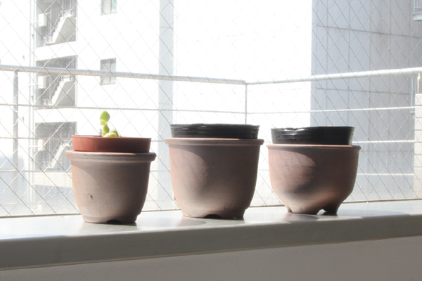 立杭焼(丹波焼)の植木鉢