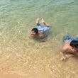 初めての海水浴行って…