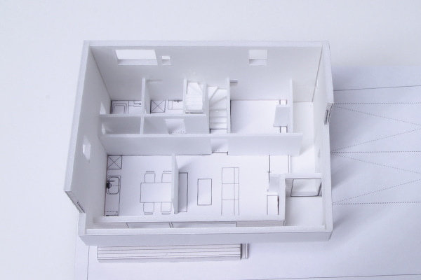 1階内観模型