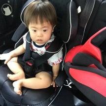 車中、初めての座位