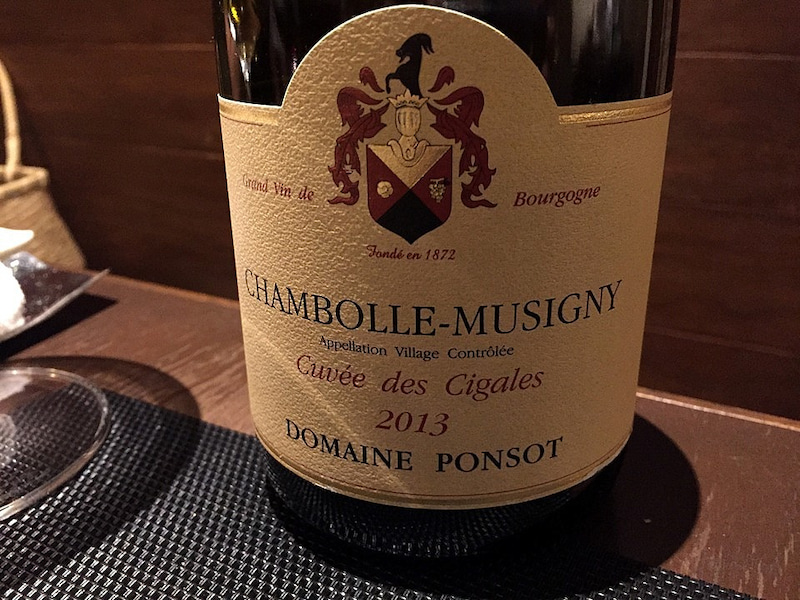 Ponsot  Chambolle-Musigny Cuvee des Cigales
