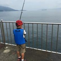 海釣り・・・大興奮?…