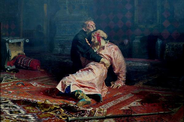 殺した息子を抱くイヴァン4世