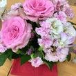 鮮やかなピンク色の…
