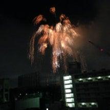 特等席で神宮の花火