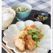鶏の塩から揚げと水菜…