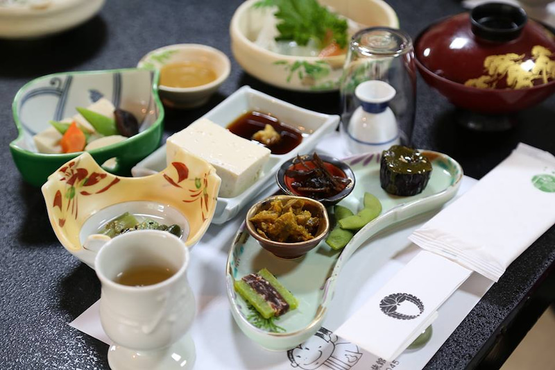 天川村精進料理ヨガ