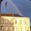 フランスの虹の付け根…
