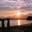 日本海の夕陽と海の幸…