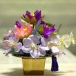 紫のお花で仏花お願い…