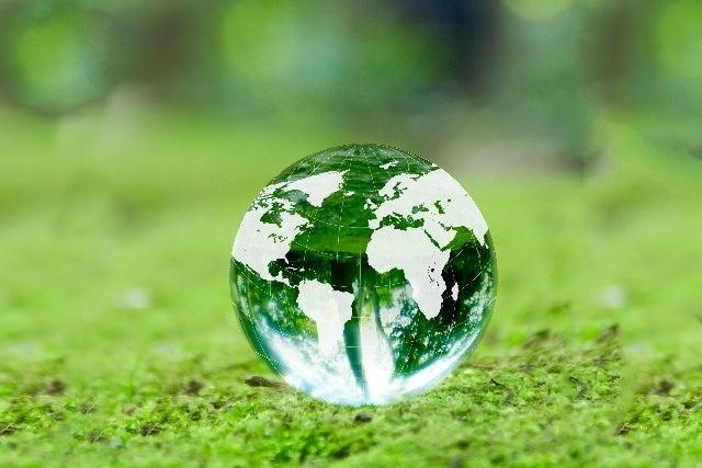 地球と新緑