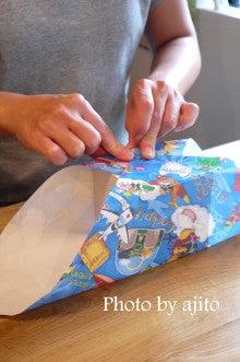 ラッピング教室アジトふろしき包み紙取り