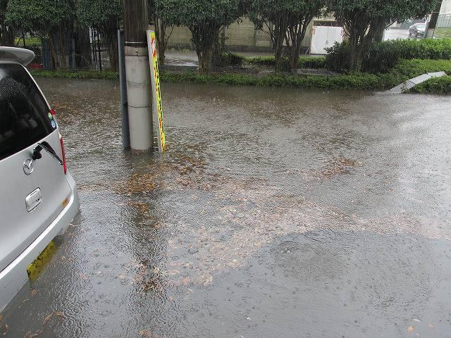 台風での増水