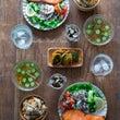 焼き鮭と炊き込みご飯…