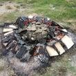 夏の恒例行事 土器焼…