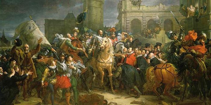 パリに入城するアンリ4世