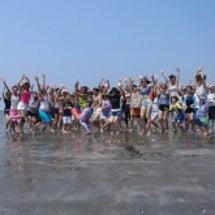夏の終わりビーチヨガ…