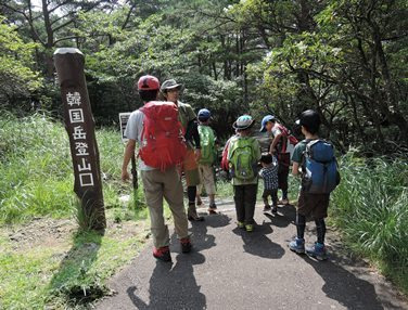 韓国岳 登山ルート