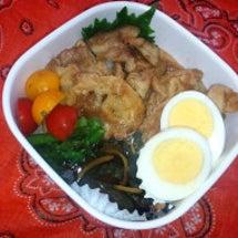 生姜焼き丼のお弁当と…
