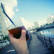 アイスコーヒーと横浜…