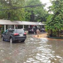 今期一番の洪水