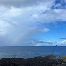 三本岳と虹