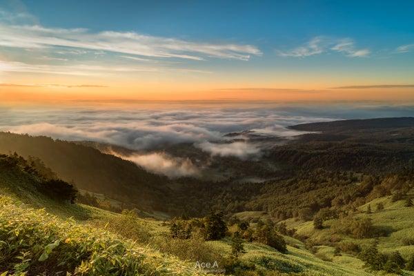渋峠の朝日と雲海