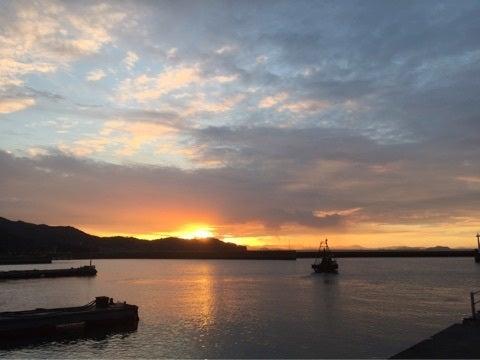岡山の海 朝日