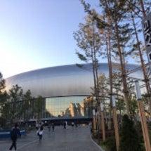 韓国初のドーム球場。