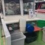 時化の海で鯵釣り