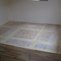 床収納が完成しました