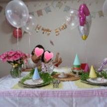 2歳の誕生日パーティ…