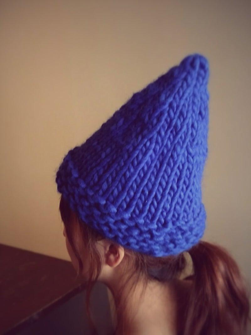ルネッタで編むとんがり帽子