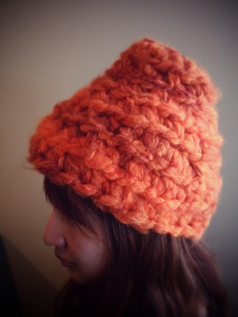 モフモで編むノームの帽子2