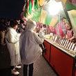 八戸花火大会 行列の…