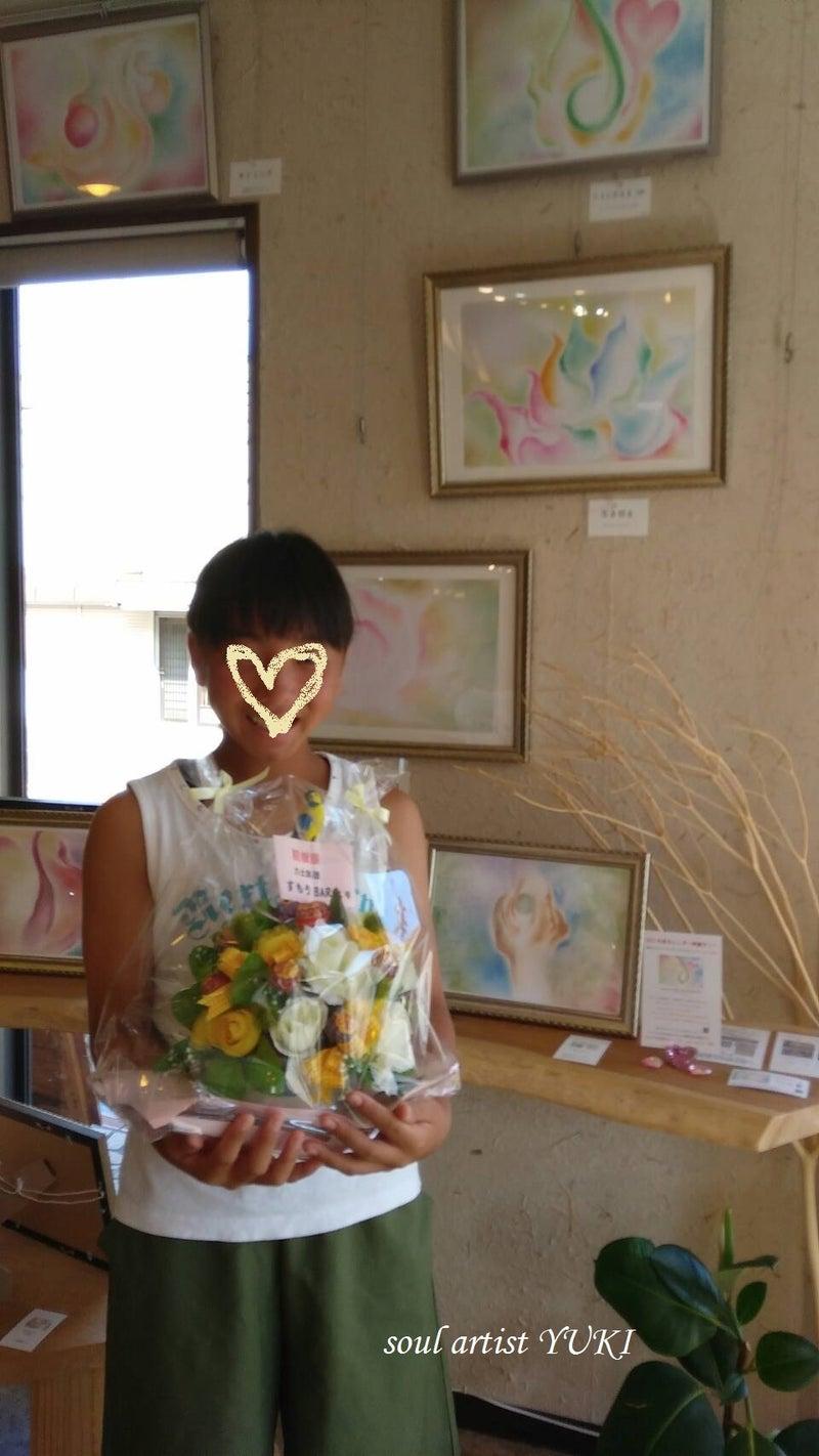 心に光が射すアート個展誕生日YUKI