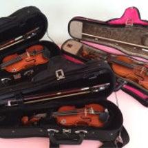 楽器と共に成長する娘