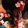 手作りの髪飾り
