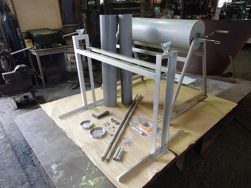 絞り染めの巻きつけ器具を製作