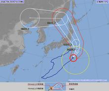 戻って来た台風10号