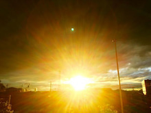 田久保・強烈な夕日