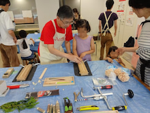 ヒノキの「マイお箸作り」WS