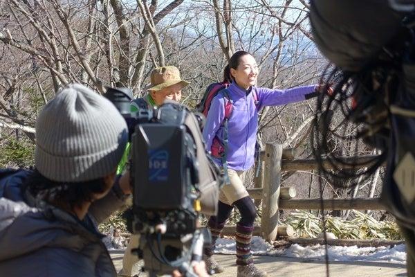 高尾山で撮影中をパチリ